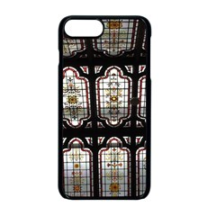 Window Image Stained Glass Apple Iphone 8 Plus Seamless Case (black)