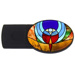 Church Window Glass Tiffany Usb Flash Drive Oval (4 Gb)