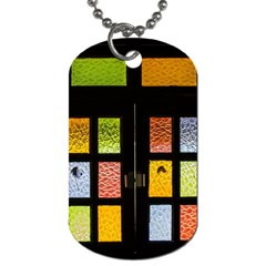 Window Stained Glass Glass Colors Dog Tag (one Side)