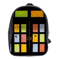 Window Stained Glass Glass Colors School Bag (xl)