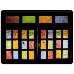 Window Stained Glass Glass Colors Double Sided Fleece Blanket (large)