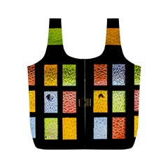 Window Stained Glass Glass Colors Full Print Recycle Bag (m) by Pakrebo