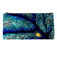 Sea Fans Diving Coral Stained Glass Pencil Cases