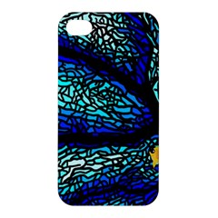 Sea Fans Diving Coral Stained Glass Apple Iphone 4/4s Premium Hardshell Case