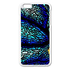 Sea Fans Diving Coral Stained Glass Apple Iphone 6 Plus/6s Plus Enamel White Case