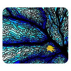 Sea Fans Diving Coral Stained Glass Double Sided Flano Blanket (small)