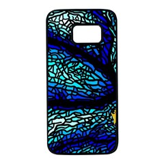 Sea Fans Diving Coral Stained Glass Samsung Galaxy S7 Black Seamless Case by Pakrebo