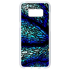 Sea Fans Diving Coral Stained Glass Samsung Galaxy S8 White Seamless Case