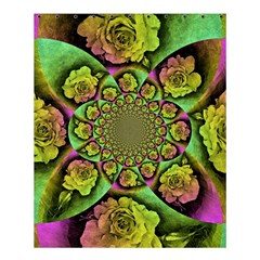 Rose Painted Kaleidoscope Colorful Shower Curtain 60  X 72  (medium)