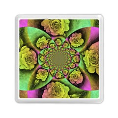Rose Painted Kaleidoscope Colorful Memory Card Reader (square)