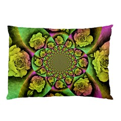 Rose Painted Kaleidoscope Colorful Pillow Case (two Sides)