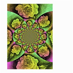 Rose Painted Kaleidoscope Colorful Small Garden Flag (two Sides) by Pakrebo