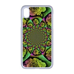 Rose Painted Kaleidoscope Colorful Apple Iphone Xr Seamless Case (white)
