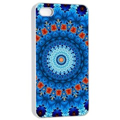 Rose Kaleidoscope Art Pattern Apple Iphone 4/4s Seamless Case (white)