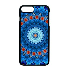Rose Kaleidoscope Art Pattern Apple Iphone 7 Plus Seamless Case (black) by Pakrebo