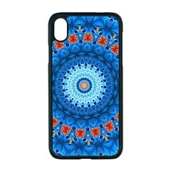 Rose Kaleidoscope Art Pattern Apple Iphone Xr Seamless Case (black)