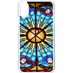 Church Window Stained Glass Church Apple Iphone Xs Seamless Case (white)