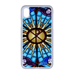 Church Window Stained Glass Church Apple Iphone Xr Seamless Case (white)