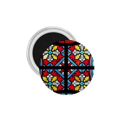 Stained Glass Window Colorful Color 1 75  Magnets