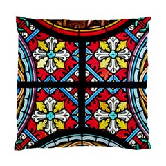 Stained Glass Window Colorful Color Standard Cushion Case (one Side) by Pakrebo