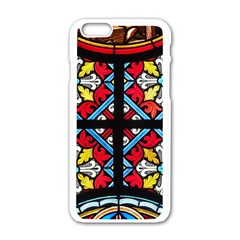 Stained Glass Window Colorful Color Apple Iphone 6/6s White Enamel Case
