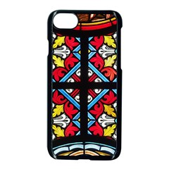 Stained Glass Window Colorful Color Apple Iphone 8 Seamless Case (black)