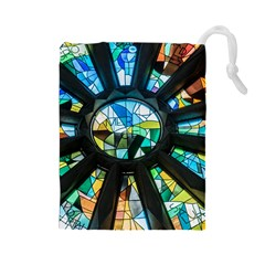 Cathedral Sagrada Fam¨alia Barcelona Drawstring Pouch (large)