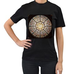 Stained Glass Window Glass Ceiling Women s T Shirt (black)