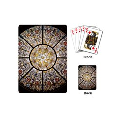 Stained Glass Window Glass Ceiling Playing Cards (mini)