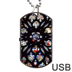Stained Glass Sainte Chapelle Gothic Dog Tag Usb Flash (two Sides)