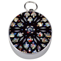 Stained Glass Sainte Chapelle Gothic Silver Compasses