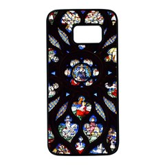 Stained Glass Sainte Chapelle Gothic Samsung Galaxy S7 Black Seamless Case
