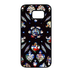 Stained Glass Sainte Chapelle Gothic Samsung Galaxy S7 Edge Black Seamless Case by Pakrebo