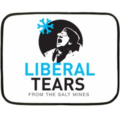 Liberal Tears Funny Screeching Democrat Screaming Double Sided Fleece Blanket (mini)
