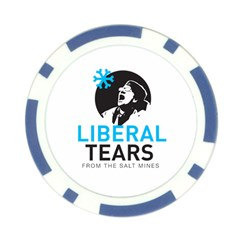 Liberal Tears Funny Screeching Democrat Screaming Poker Chip Card Guard (10 Pack) by snek