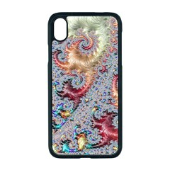 Fractal Artwork Design Pattern Apple Iphone Xr Seamless Case (black)
