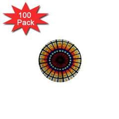 Background Stained Glass Window 1  Mini Buttons (100 Pack)