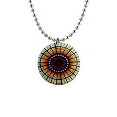 Background Stained Glass Window 1  Button Necklace by Pakrebo