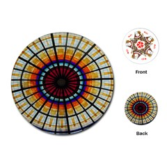 Background Stained Glass Window Playing Cards (round)