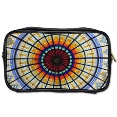 Background Stained Glass Window Toiletries Bag (two Sides)