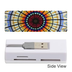 Background Stained Glass Window Memory Card Reader (stick) by Pakrebo