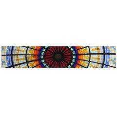 Background Stained Glass Window Large Flano Scarf