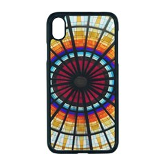 Background Stained Glass Window Apple Iphone Xr Seamless Case (black)