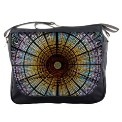 Barcelona Glass Window Stained Glass Messenger Bag