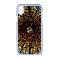 Barcelona Glass Window Stained Glass Apple Iphone Xr Seamless Case (white)