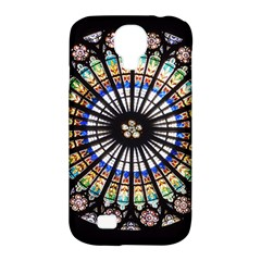 Stained Glass Cathedral Rosette Samsung Galaxy S4 Classic Hardshell Case (pc+silicone)