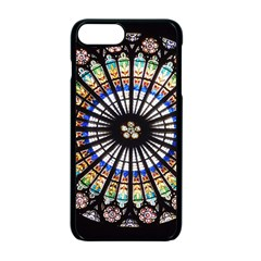Stained Glass Cathedral Rosette Apple Iphone 7 Plus Seamless Case (black)