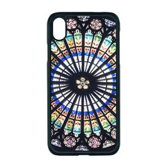 Stained Glass Cathedral Rosette Apple Iphone Xr Seamless Case (black)