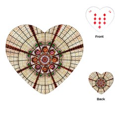 Pattern Round Abstract Geometric Playing Cards (heart)