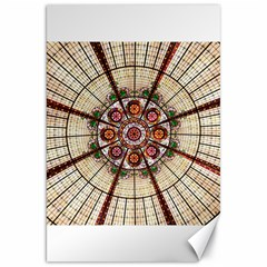 Pattern Round Abstract Geometric Canvas 20  X 30